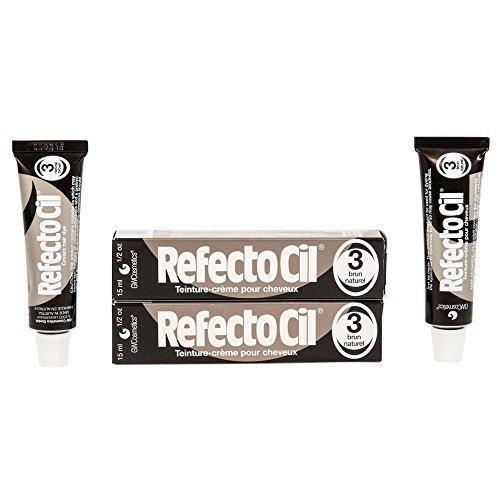 Refectocil Twin Pack Natural Brown Cream Hair Dye, 15ml X 2
