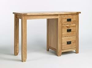 Richmond Coiffeuse en chêne massif sur pied Meubles simple Chambre Table avec tiroirs