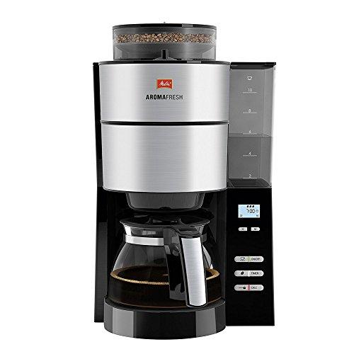 Aroma-kaffeemaschine (Melitta, Filterkaffeemaschine mit integriertem Mahlwerk, AromaFresh, Schwarz/Edelstahl)