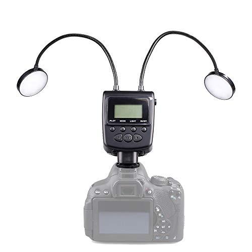 QYRL LED Blitzlicht Speedlite Metallschlauch Einstellbare Kamerablitz Für Canon Nikon Panasonic Olympus Sony Fujifilm Pentax