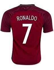 Generic 20162017Portugal 7Cristiano Ronaldo Home Fußball Jersey in Rot