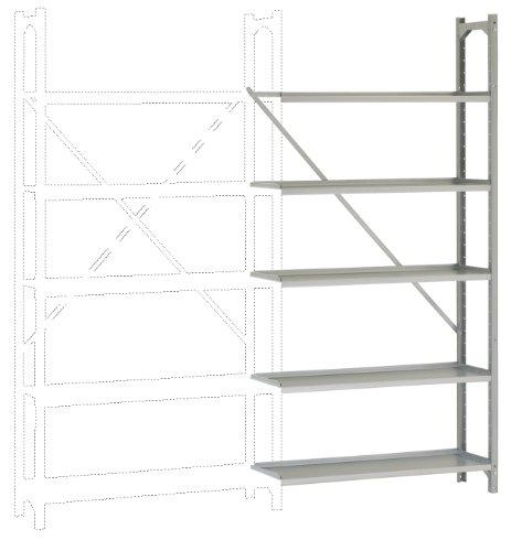 MANUFLEX Archivregal Budget, Anbauregal mit 5 Stahlblechböden, HxBxT = 1900x930x300 mm