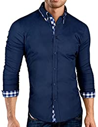 Grin&Bear coupe slim chemise col à contraste homme, SH520