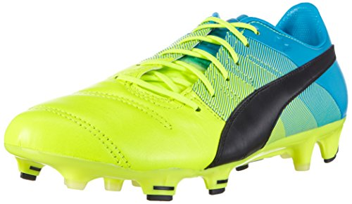 puma-evopower-13-lth-fg-chaussures-de-football-homme-multicolore-safety-yellow-black-atomic-blue-39-