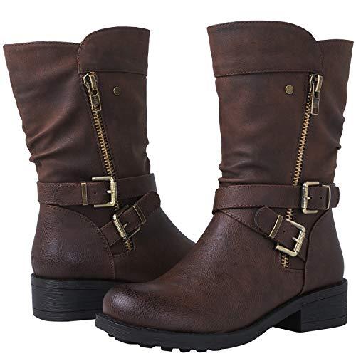 59a9f1713d3 Global Win GLBALWIN Women s 18YY05 Brown Fashion Boots 6M
