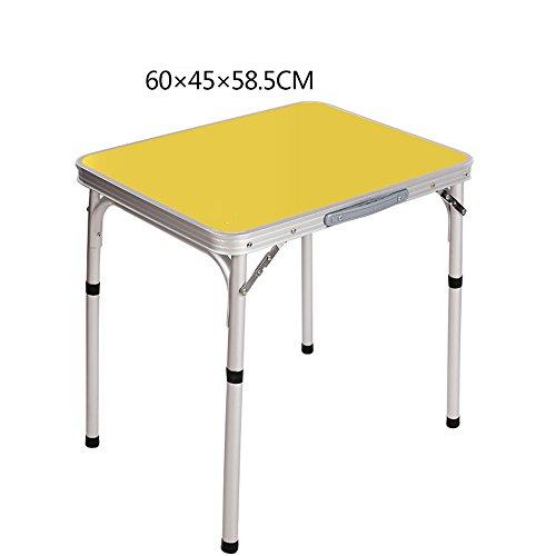 XIA Table pliante en plein air camping 60 * 45 * 58.5 cm Portable en alliage d'aluminium Table d'exposition Table d'étude pique-nique simple (Couleur : Purple)