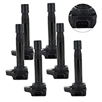 Ignition Coils Replacement for Honda Accord Odyssey Acura MDX TL RL Vue 3.0L 3.2L 3.5L V6 OEM Part Number 90919-02247 UF242 C1221 30520P8EA01 30520P8FA01 30520RCAA02 (SET of 6)