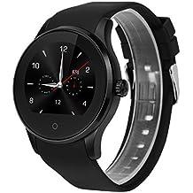 Excelvan K88S - Smartwatch Reloj Pulsera Deportiva (2G Nano Sim, Ritmo Cardiaco, Podómetro, Recordatorio Llamada SMS, Recordatorio Sedentaria, Monitor del Sueño), Negro