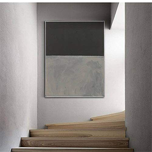 Rjjwai Berühmte Mark Rothko Fokus Leinwand Malerei Poster Drucken Farbblock Modernes Dekor Wandkunst Bilder Für Wohnzimmer Schlafzimmer Gang Schlafzimmer 50x75cm -