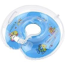 ForuMall Flotador de Doble Airbags Engrosada Ajustable de Cuello para Bebé de 1-18 Meses