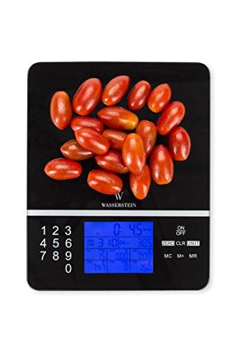 Digitale Nährwert-Analysewaage - Anzeige der Nährwerte - Genauer Lebensmittel- und Diät Küchenwaage von WASSERSTEIN