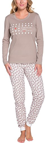 Italian Fashion IF Damen Schlafanzug 194R 0223 (Kakao, L)