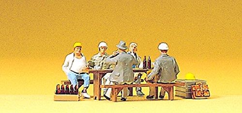 Preiser 10338 H0 Bauarbeiter in der Pause