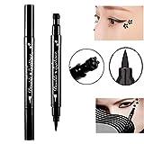 Pinkiou eyeliner crayon plum timbre outil de maquillage eyeliner 2 en 1 imperméable longue durée (pack de 1)