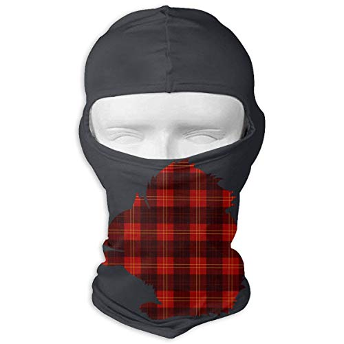 Wdskbg Ski Mask Buffalo Plaid Squirrel Sun UV Protection Dust Protection Wind-Resistant Face Mask for Running Cycling Fishing New5 - Buffalo Plaid Fleece