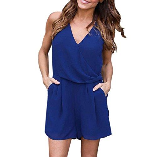 bluester-women-solid-chiffon-beach-sleeveless-jumpsuit-summer-party-short-mini-playsuit-dress-m-blue