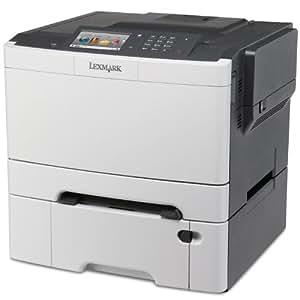 Lexmark CS510DTE Farblaserdrucker (1200 dpi, USB 2.0) graphit/weiß