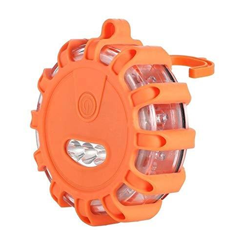 1 Pack AOZBZ La s/écurit/é LED Route Flares Urgence routi/ère Balise de s/écurit/é de Voiture Rechargeable lumi/ère 9 Modes Clignotant Lampe de Poche pour Voiture RV Bateau Bateau v/élo Marine