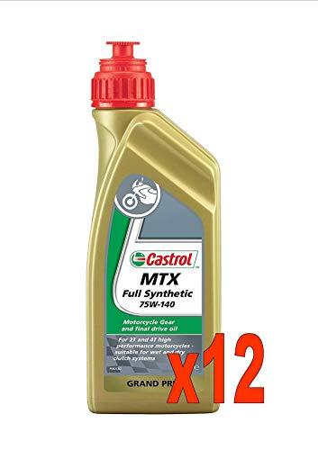 Castrol Full Synthetic 75w-140 Litri 1 Olio Sintetico per Cambio Moto 2T e 4T N 12 Flaconi da Litri 1
