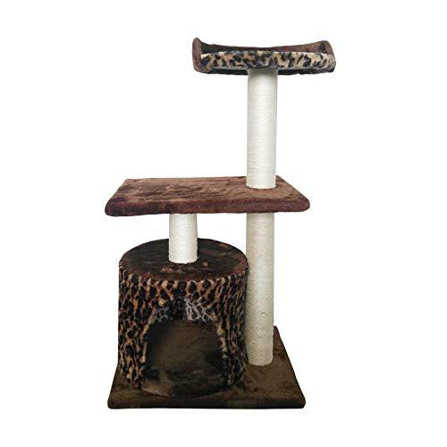 LuckyPet Rascador Arbor para gatos Juguete Beige Marron Afilador Centro de juego Mascotas Animales (Cod. LU8006)