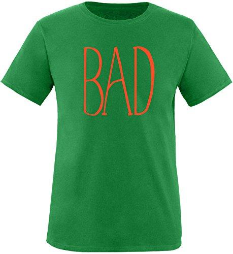 EZYshirt® BAD Herren Rundhals T-Shirt Grün/Orange