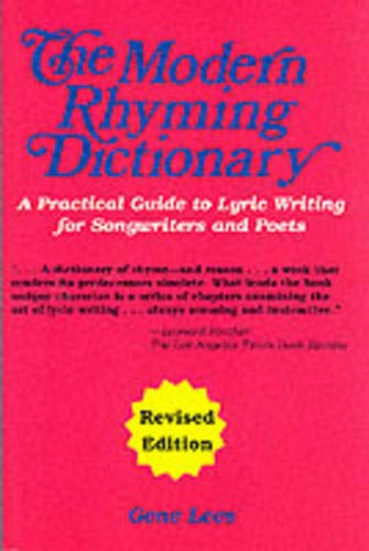 Modern Rhyming Dictionary Revised (The Modern Rhyming Dictionary, revised edition by Gene Lees.): Musiktheorie