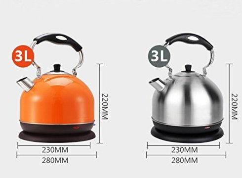 Electric Kettle 3 L, 2000 W, Stainless Steel Otter Controller (Orange)