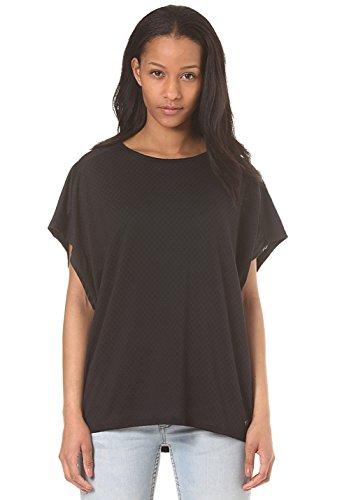 Bench T Shirt Geo Mesh Tee, Donna, Geo Mesh Tee, Black, L