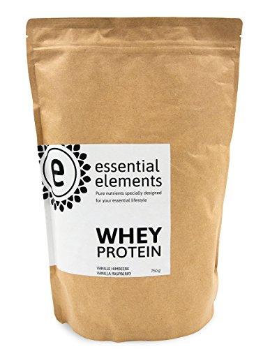 Whey Protein Himbeere - Vanille mit Himbeer, 750g - Low-Carb Eiweißpulver für die gesunde Ernährung - hergestellt in Deutschland - 100% Whey - Vanille Gesund