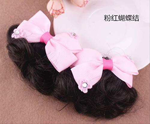Pille Baby Kostüm - Mädchen geflochtene Baby Kopfschmuck Pille Kopf Perücke Verkauf der südkoreanischen Prinzessin Ring Flower Tide B