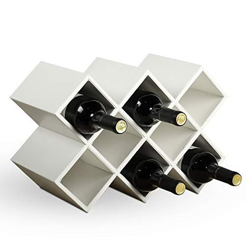 HUIYUE Hölzerne weinflasche loches,Kreative weinregal, Haushalt flaschenregal,Wohnzimmer Dekoration Freistehende Anzeigen Weinregal-C 41x20x28cm(16x8x11inch) (Anzeige Home Akzente)