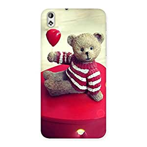 Red Heart Teddy Back Case Cover for HTC Desire 816s