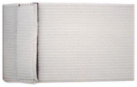 größenverstellbare Armbinde weiß, mit Klettverschluß, uni