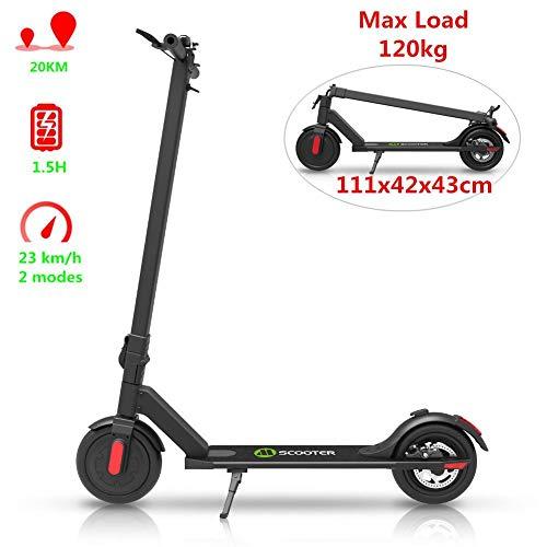 Rvest Elektroroller, 250 W Hochleistungs-Smart-E-Scooter, Höchstgeschwindigkeit 32 km/h, zusammenklappbarer Tretroller mit steckbaren Frontscheinwerfern und LED-Anzeige
