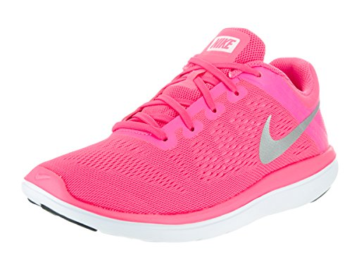Nike Flex 2016 Rn (Gs), Chaussures de Course Fille Rosa (Pink Blast/Metallic Silver/Black/Hyper Pink/White)