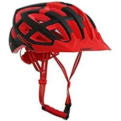 MSC Bikes HX100MLBKRD Casco de MTB, Negro/Rojo, M/L (58cm-61cm)