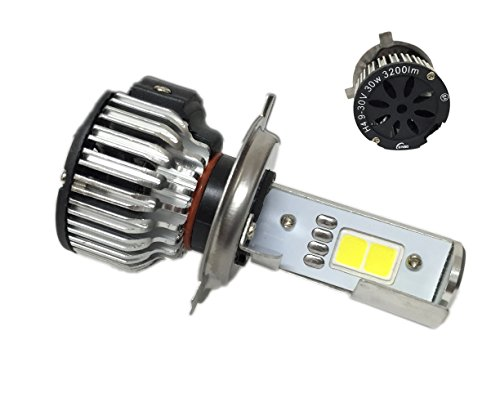 KIT H4-3 LAMPADE A LED CREE FULL LED CONVERSIONE XENO XENON 2600 LUMEN 6000K DIGITALE 12V 24V CAMION AUTO