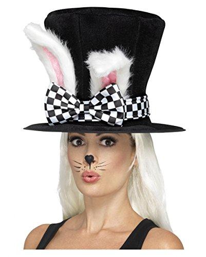 Alice im Wunderland Zylinder mit Kaninchen (Kaninchen Kostüm Im Wunderland Alice)