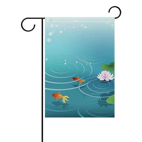 XiangHeFu Garten Flagge Teich Wasser Goldfish 12 x 18 Zoll (12
