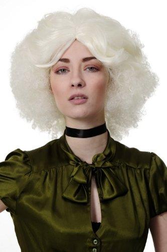 ücke Perücke Sexy 60er Jahre Style Hair Afro Mittelscheitel Weißblond GFW1677-613A (70er-jahre-halloween-filme)
