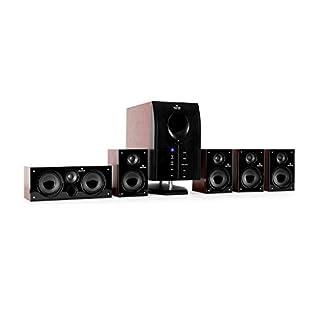 Auna MM-5.1-H XCess 5.1 aktives Surround Boxen Lautsprecher Set (6500 Watt PMPO, 95 Watt RMS)
