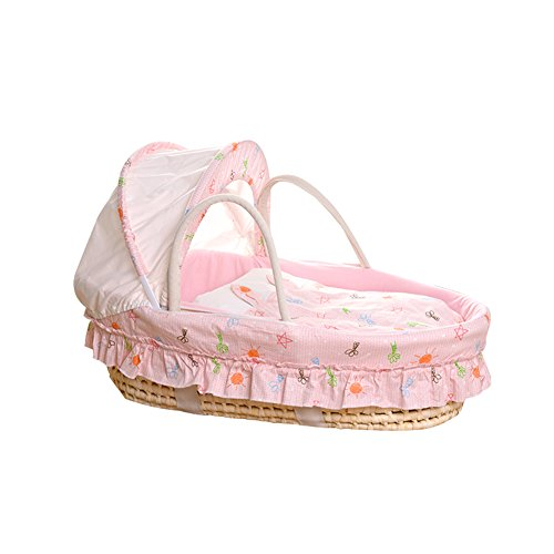 ALUK- Moses Basket, Newborn Car Portable Panier pour bébé, Panier de Couchage Lit Berceau Lit de bébé (Couleur : Package A)