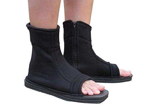 Village Shippuuden Cosplay Ninja Schuhe/Sandalen Stiefel Kakashi Schuhe Kostüm Kostüm Zubehör schwarz 36 (Kakashi Cosplay Kostüm)