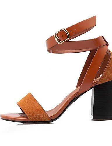 LFNLYX Scarpe Donna-Sandali / Scarpe col tacco / Sneakers alla moda-Matrimonio / Ufficio e lavoro / Formale / Casual / Serata e festa-Tacchi / Brown
