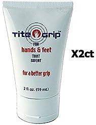 Tite Grip antitranspirante Golf mano loción funciona gran 2-Pack