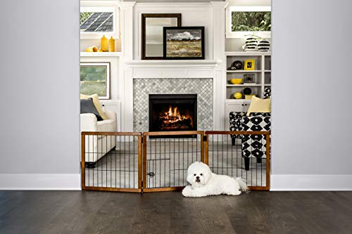 Carlson Pet Products 2066 DS Design Paw 3 Panel Holz Gate -