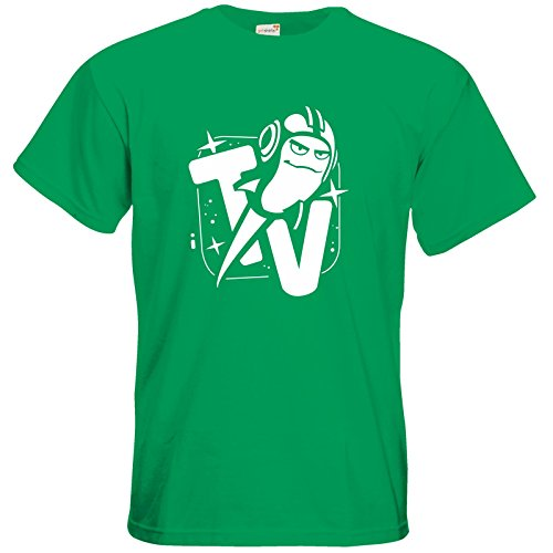 getshirts - Rocket Beans TV Official Merchandising - T-Shirt - Senderlogo SW Kelly Green