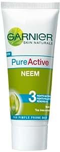 Garnier Skin Naturals Pure Active Neem Face Wash, 50g