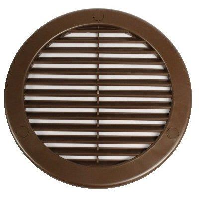 Rejilla de diámetro 200 mm marrón 20 cm con mosquitera y brida redonda de rejilla de ventilación de aire de entrada de ventilación rejilla TRU 20Kbr