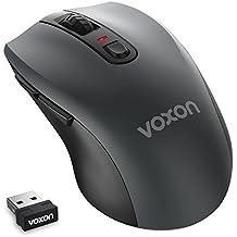 VOXON 4800 DPI Mouse Ottico Wireless Ergonomico 2.4G, 6 Pulsanti, 30 Mesi di Durata della Batteria, 5 Livelli di Regolazione
